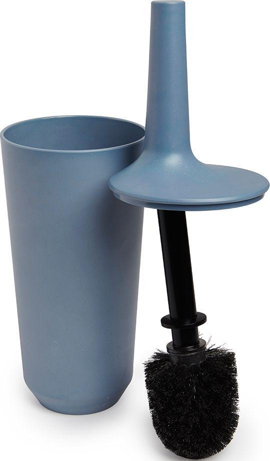 Ершик туалетный Umbra Fiboo, цвет: дымчато-синий, 39,8 х 11,8 х 11,8 см023876-755Этот нужный предмет изготовлен из комбинированного материала (меламин и бамбуковое волокно), который отличает экологичность, износостойкость и уникальный матовый эффект. Благодаря лаконичному дизайну будет гармонично смотреться в любой ванной комнате.Удобен в использовании благодаря эргономичной конструкции.Дизайн: Wesley Chau