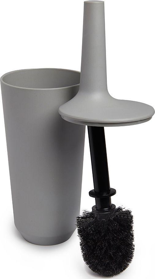 Ершик туалетный Umbra Fiboo, цвет: серый, 39,8 х 11,8 х 11,8 см023876-918Этот нужный предмет изготовлен из комбинированного материала (меламин и бамбуковое волокно), который отличает экологичность, износостойкость и уникальный матовый эффект. Благодаря лаконичному дизайну будет гармонично смотреться в любой ванной комнате.Удобен в использовании благодаря эргономичной конструкции.Дизайн: Wesley Chau