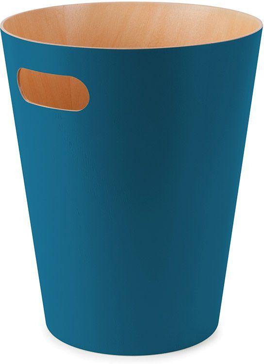 Корзина для мусора Umbra Woodrow, цвет: сине-зеленый, 22,9 х 22,9 х 27,9 см umbra корзина для мусора с крышкой