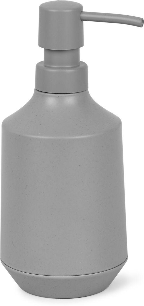 Диспенсер для мыла Umbra Fiboo, цвет: серый, 19,1 х 8,3 х 8,3 см umbra диспенсер для жидкого мыла umbra step 385 мл черный xhalt 1k