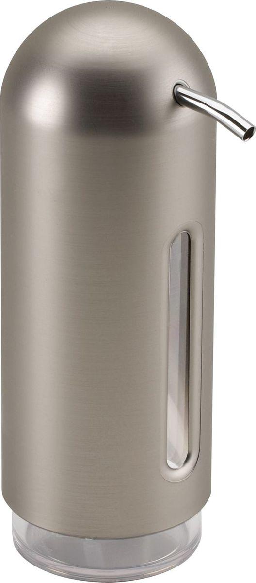 Диспенсер для жидкого мыла Umbra Penguin, цвет: никель, 19 х 6 х 6 см диспенсер для жидкого мыла umbra penguin цвет черный 19 х 6 х 6 см