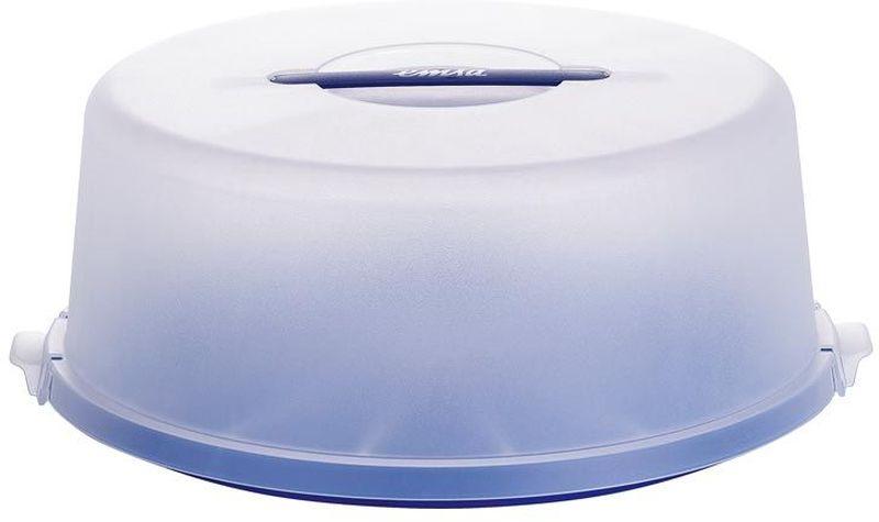 Контейнер для торта Emsa Basic, цвет: синий, диаметр 33 см504918Контейнер для торта Emsa Basic предназначен для хранения и транспортировки тортов либо других кондитерских изделий. Прочные защелки могут гарантировать, что торт или любимые пирожные не упадут на пол. Контейнер изготовлен из высококачественного пластика, который экологически безопасен для человека. Контейнер для переноски торта представляет собой очень удобную конструкцию.Воспользовавшись ею единожды, вы поймете, насколько это приятно и комфортно.