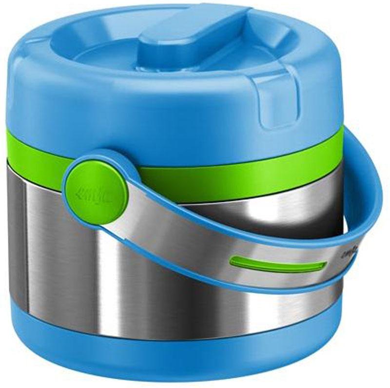 Термос пищевой Emsa Mobility Kids, цвет: голубой, зеленый, 650 мл515862Пищевой термос Emsa Mobility Kids выполнен из пищевой стали и пластика. Еда внутри закрытого термоса остается горячей около 6 часов, ахолод держится около 12 часов. Внутри изотермного корпуса размещается пластиковый контейнер для еды, который вместе с содержимымможно разогревать в микроволновой печи.Объем: 650 мл.