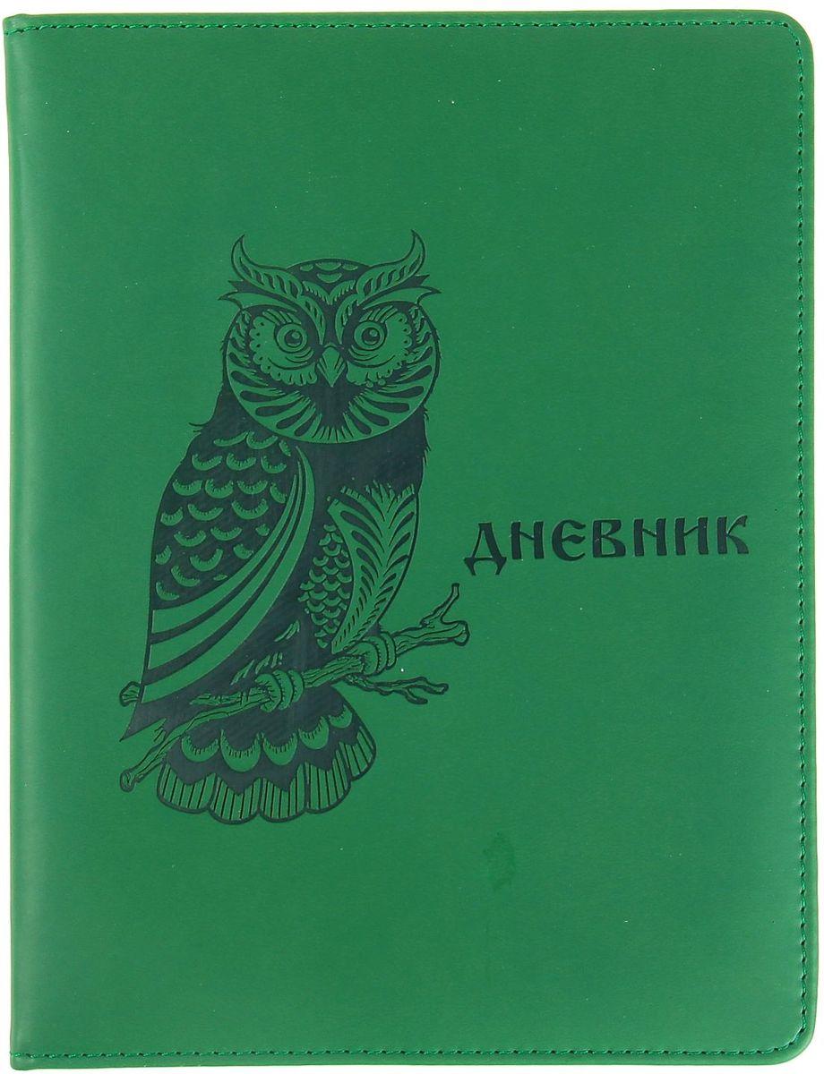 Дневник школьный Сова для 5-11 классов цвет зеленый спейс дневник школьный россия коллаж для 5 11 классов