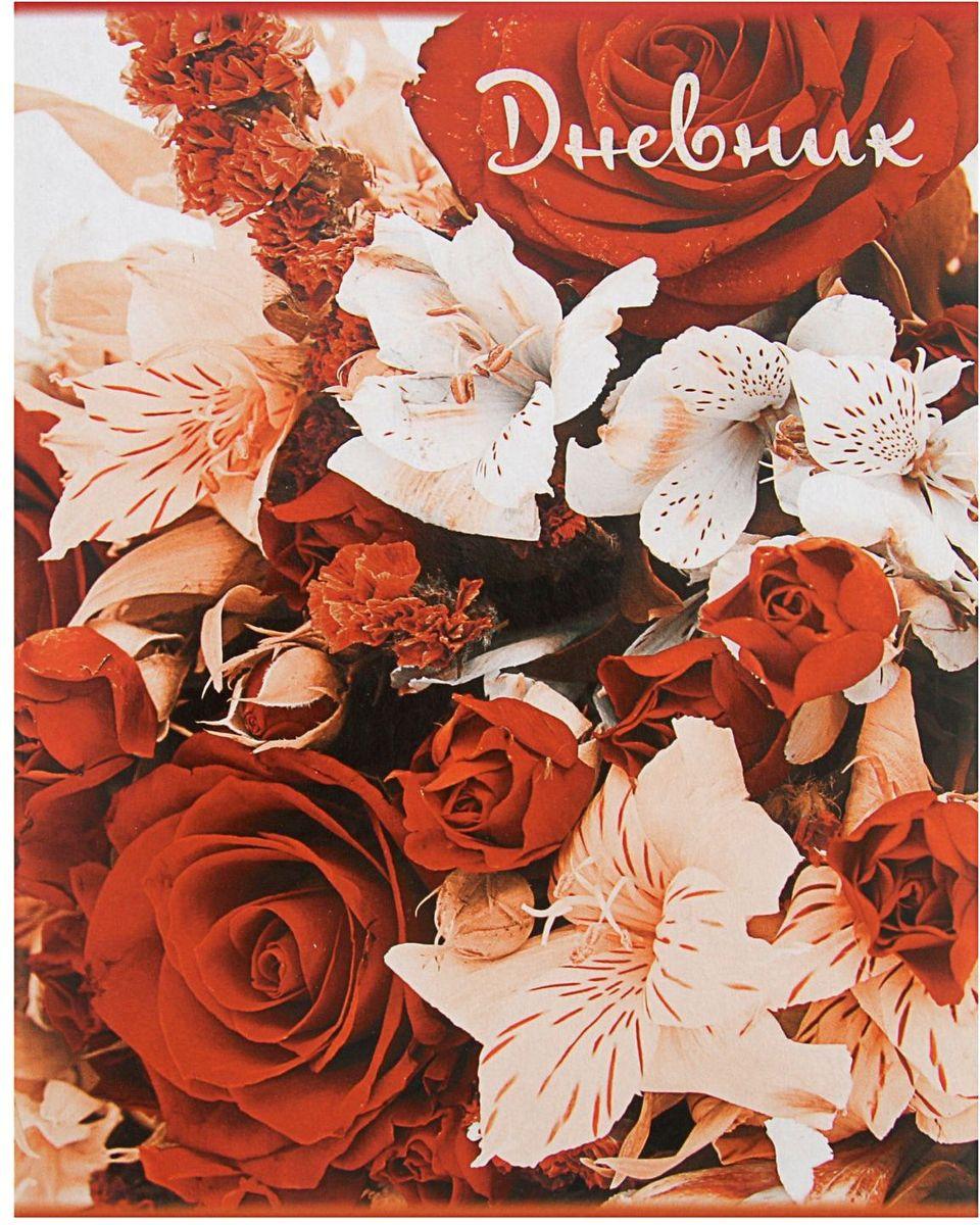 Calligrata Дневник школьный Цветы artspace дневник школьный золотые цветы