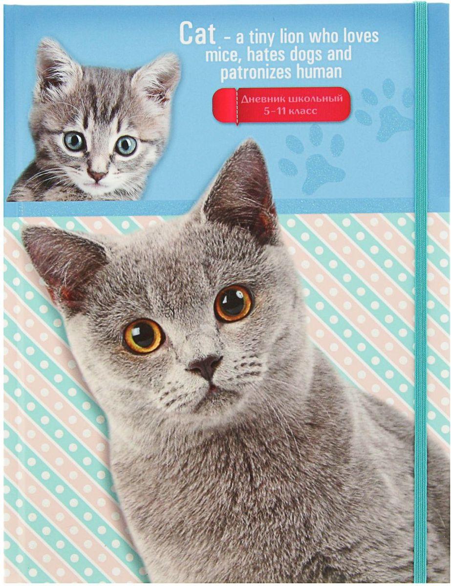 Проф-Пресс Дневник школьный Кот и котенок для 5-11 классов книги проф пресс волшебная кнопочка кот в сапогах