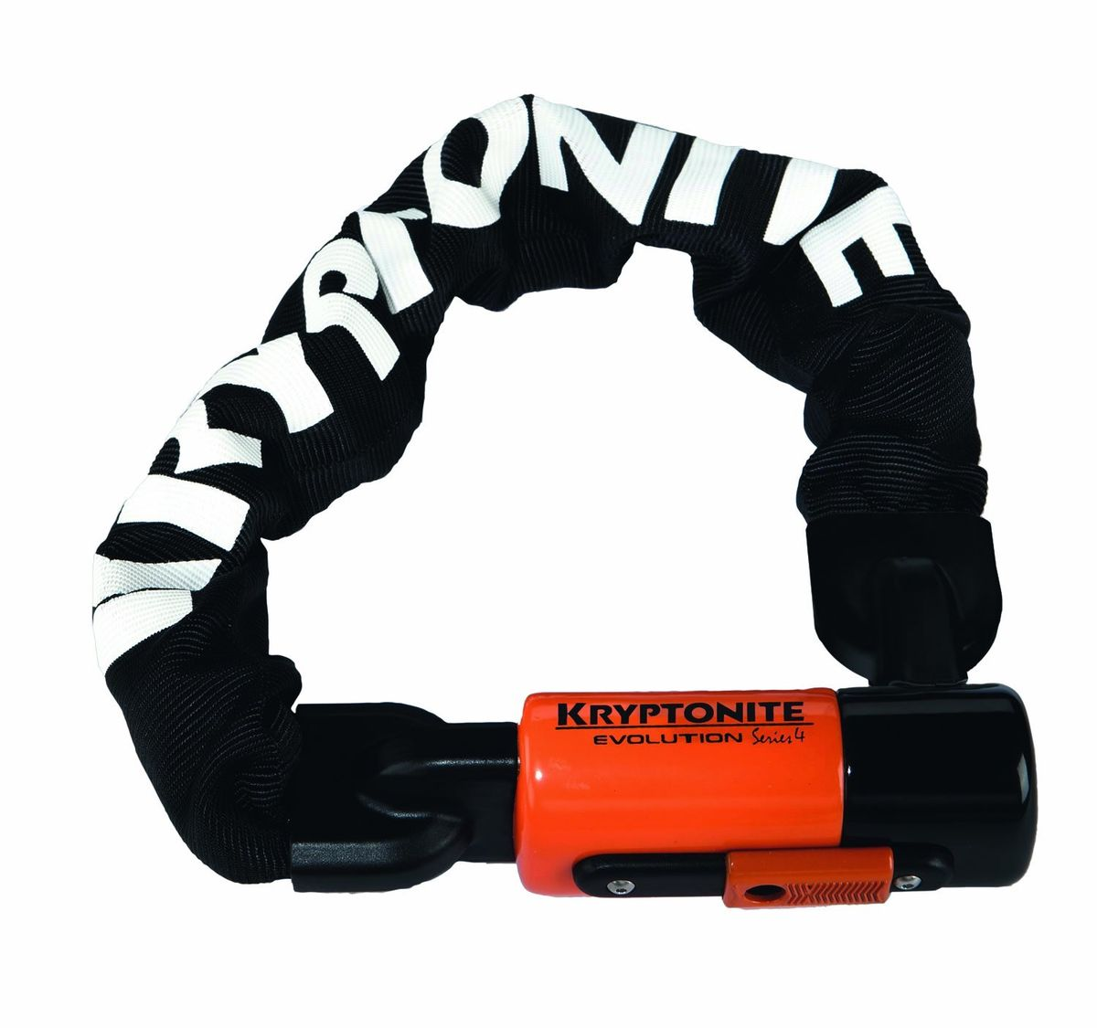 Замок велосипедный Kryptonite Chains Evolution Series 4 1016 Integrated Chain, цвет: черный, 10 мм x 160 см0720018000815Мощная цепь Kryptonite Evolution series 4 1016 с толстыми звеньями способна предотвратить кражу вашего любимого транспортного средства.Преимущества велосипедного замка-цепи Kryptonite Evolution Series 4 1016:- Компактные размеры;- Защита 8 баллов из 10 возможных по шкале Kryptonite для велосипедных замков; - Три ключа из нержавеющей стали в комплекте (1 с Led-подсветкой);- Key-Safe Program (2 дополнительных дубликата при потере ключа); - Прочный нейлоновый чехол защищающий лакокрасочные покрытия от царапин;- Виниловое покрытие замка;- Закаленные звенья, толщиной 10 мм из марганцевой стали;- Длина цепи 160 см, позволяет закрепить сразу несколько велосипедов;- Защита от пыли и влаги.
