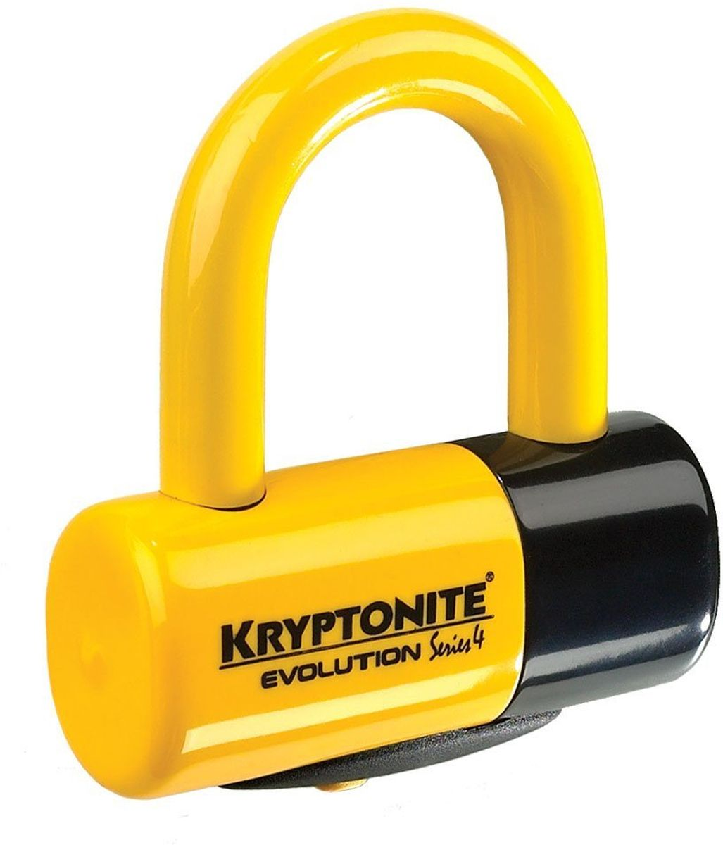 Замок велосипедный Kryptonite Disc Locks Evolution Series 4 Disc Lock, цвет: желтый, 4,8 х 5,4 см deroace велосипедный цепной стальной замок для электрокара электро мотороллера мотора
