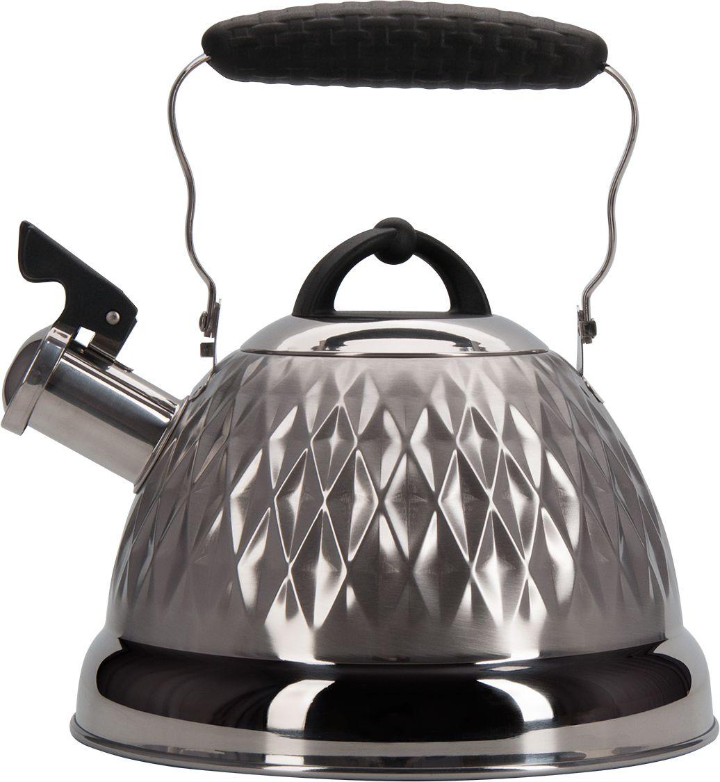 Чайник Regent Inox Promo, со свистком, 2,4 л. 94-150494-1504Чайник Regent Inox Promo подходит не только для того, чтобы вскипятить воду и напоитьвкусным чаем своих родных, но и для украшения вашей кухни. Материал нержавеющая стальс матовым полированием, стальнаяручка с бакелитовой вставкой. Многослойноекапсулированное дно обладает массой достоинств, например, высокая теплопроводность,которая и обеспечивает быстрое закипание. Нержавеющая сталь также стойка к коррозии икислотам, прочна и долговечна. Чайник подходит для всех видов плит и его можно мыть каквручную, так и в посудомоечной машине.