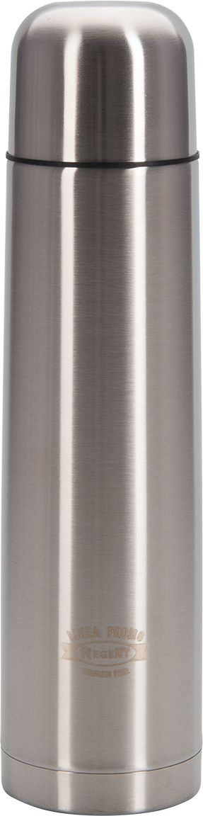Термос Regent Inox Promo, 1 л. 94-460394-4603Термос Regent Inox Promo - это современная технология теплоизоляции, вакуум между стенкамиобеспечивает надежное сохранение температуры содержимого. Металлическая колба, посравнению со стеклянной не боится падений, поэтому надежна и долговечна в эксплуатации.Сохраняет температуру как горячих, так и холодных напитков.