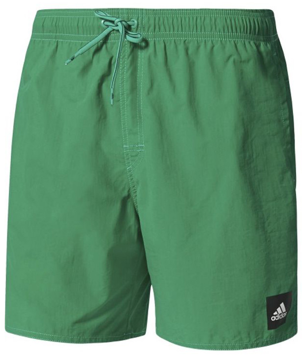 Шорты мужские Adidas Solid Sh Sl, цвет: зеленый. BJ8783. Размер M (48/50)BJ8783Эти пляжные шорты идеально подойдут для плавания. Модель с боковыми карманами дополнена внутренними сетчатыми плавками, выполненными из переработанных материалов.Боковые карманы.Эластичный пояс на регулируемых завязках-шнурках.Внутренние плавки из переработанной сетки.Декоративная ширинка.Логотип adidas слева у нижнего края.Эта модель — часть экологической программы adidas: использованы технологии, сберегающие природные ресурсы; каждая нить имеет значение: переработанный полиэстер сохраняет природные ресурсы и уменьшает отходы производства.