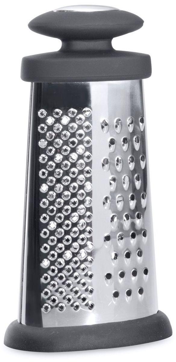 """Терка BergHOFF """"Studio"""" оригинального дизайна займет достойное место среди аксессуаров на  вашей кухне.  Терка изготовлена из высококачественной нержавеющей стали, имеет  острейшую заточку и оснащена удобной ручкой.  Высота терки: 15,5 см."""