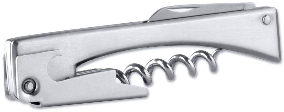 """Штопор """"BergHOFF"""" выполнен в классическом дизайне серии Hotel line. Штопор изготовлен из нержавеющей стали, которая устойчива к окислению и не будет ржаветь. Данная модель может служить не только как штопор, но она включает в себя небольшой раскладной нож, и открывалку для бутылок. Длина: 11 см.Выполнен из нержавеющей стали: 18/10. Размер: 11 см х 2,3 см."""