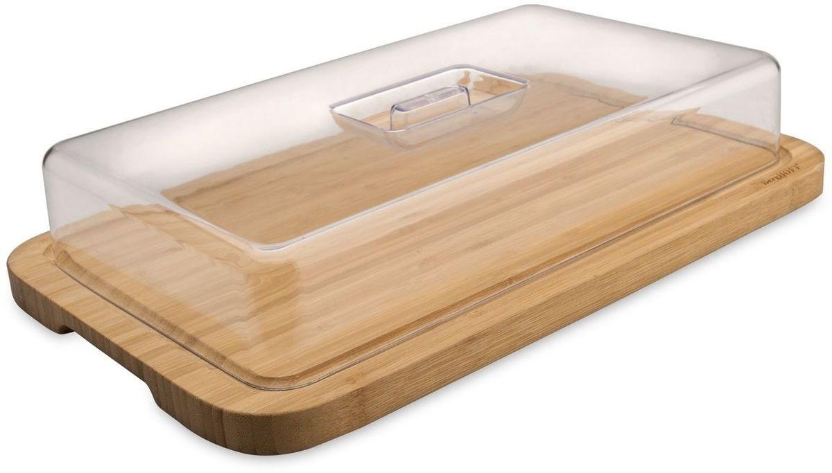 Доска разделочная BergHOFF Studio, бамбуковая, с крышкой, 39 х 24 х 7,5 см1101811Доска разделочная BergHOFF Studio с крышкой изготовлена из бамбука. Бамбук обладает природными антибактериальными свойствами. Доска отличается долговечностью, большой прочностью и высокой плотностью, легко моется, не впитывает запахи и обладает водоотталкивающими свойствами, при длительном использовании не деформируется.Доска разделочная BergHOFF Studio отлично подойдет для приготовления и сервировки пищи. Не рекомендуется мыть в посудомоечной машине.