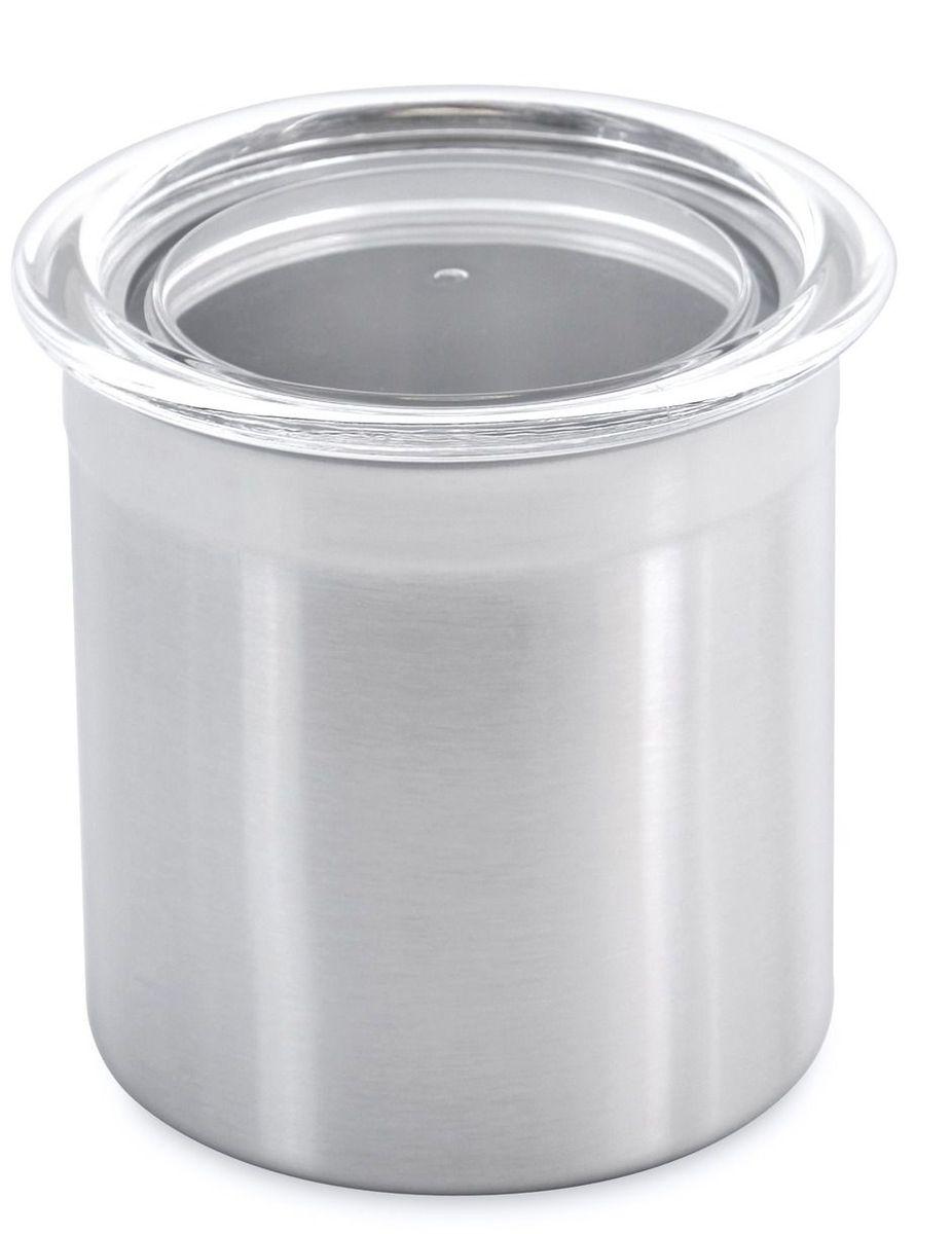 Банка для сыпучих продуктов BergHOFF Studio, с крышкой, 600 мл1106380Банка для сыпучих продуктов BergHOFF Studio выполнена из нержавеющей стали. Крышка акриловая, прозрачная с силиконовой прокладкой.