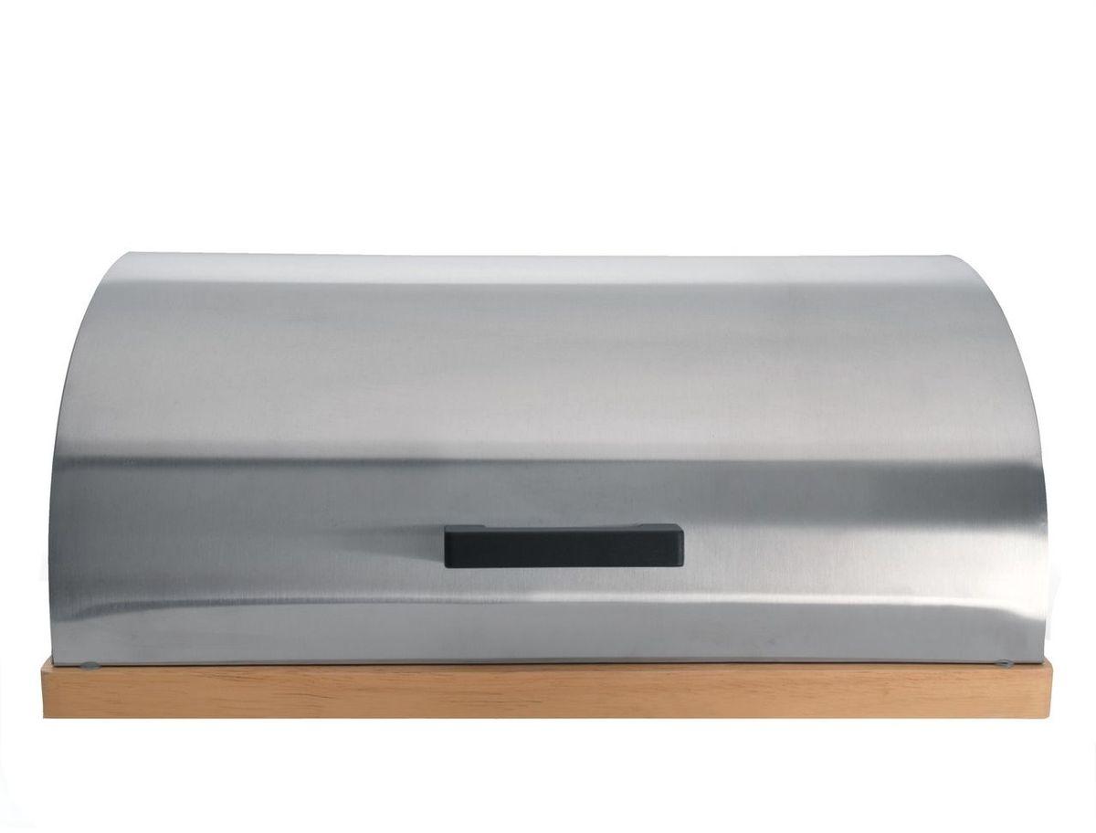 Хлебница BergHOFF Cubo, 28 х 39 х 16,5 см1108681Хлебница BergHOFF Cubo состоит из 2-х частей: нижняя часть – из светлого дерева, которую так же можно использовать как разделочную доску при нарезке хлеба; верхняя часть хлебницы откидная, изготовлена из нержавеющей стали 18/10 с матовой полировкой. Имеет вентиляционные отверстия, что не позволит хлебу отсыревать. Внутри хлебницы есть силиконовые прокладки для мягкого закрывания.
