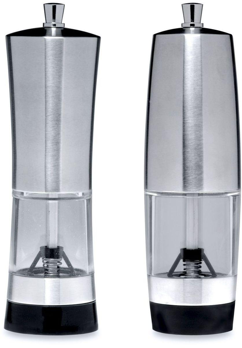 Набор мельниц для соли и перца BergHOFF Geminis, 16 х 5 см, 2 предмета1108810Механизмы мельниц рекомендуется время от времени прочищать маленькой щеткой.Прорезиненное дно препятствует скольжению.Упаковано в цветную подарочную коробку.Состав набора:- мельница для соли 16 x 5 см.- перцемолка 16 x 5 см.