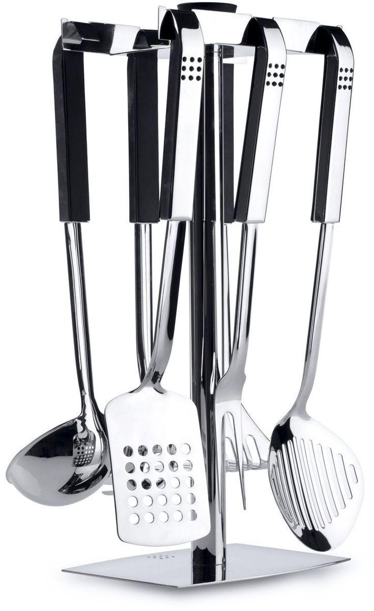 Набор кухонных принадлежностей BergHOFF Orion, 7 предметов1110936Кухонный гарнитур Berghoff на подставке отлично подойдет для вашей кухни или бара. набор выполнен из нержавеющей стали. Он очень удобен и прост в использовании.В набор входят: Половник для супа (длина 32,5 см);Пресс для картофеля (длина 32,5 см);Ложка для спагетти (длина 33 см); Вилка для мяса (длина 34,5 см);Лопатка (длина 36 см);Шумовка (длина 37 см);Подставка (размер: 18 х 39 см).
