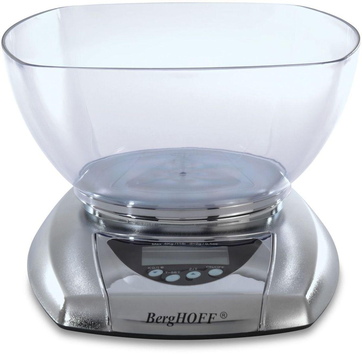 Весы кухонные BergHOFF Studio, электронные, с чашей кухонные весы redmond rs 736 полоски