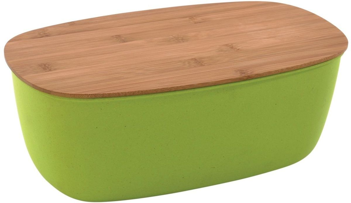 Хлебница BergHOFF Cook&Co, с крышкой, цвет: зеленый, 35,5 х 20 х 13,5 см2800044Хлебница Berghoff Cook&Co изготовлена из безопасного материала - меламин, материал крышки - прочный натуральный бамбук. Крышка служит отличной доской для нарезки хлеба. Удобная и эргономичная посуда. Подходит для посудомоечной машины.Размер: 35,5 х 20 х 13,5 см.Можно мыть в посудомоечной машине.