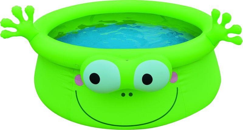 Бассейн надувной Jilong Frog, цвет: зеленый, 175 х 62 см, от 3 лет бассейн каркасный jilong rectangular 258х179х66см голубой 16101eu