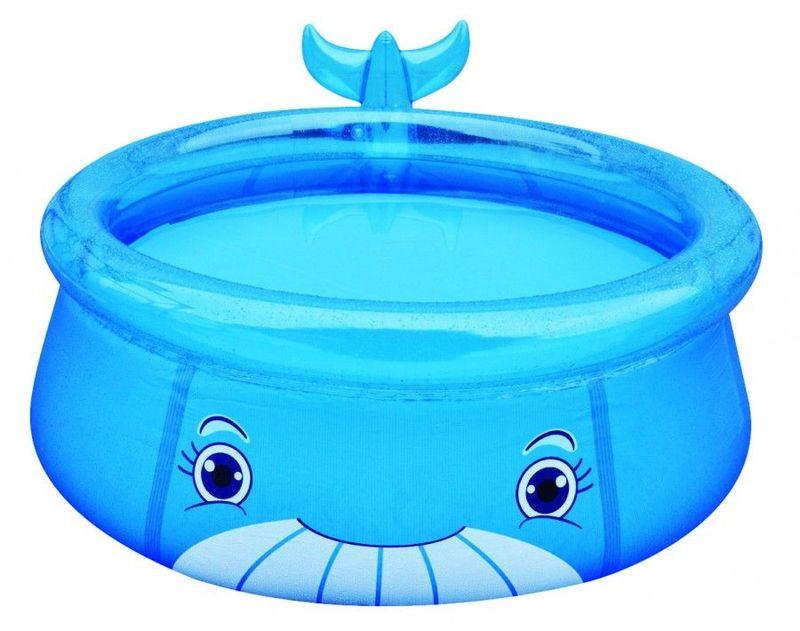 """Бассейн надувной Jilong """"Whale"""", цвет: голубой, 175 х 62 см, от 3 лет"""