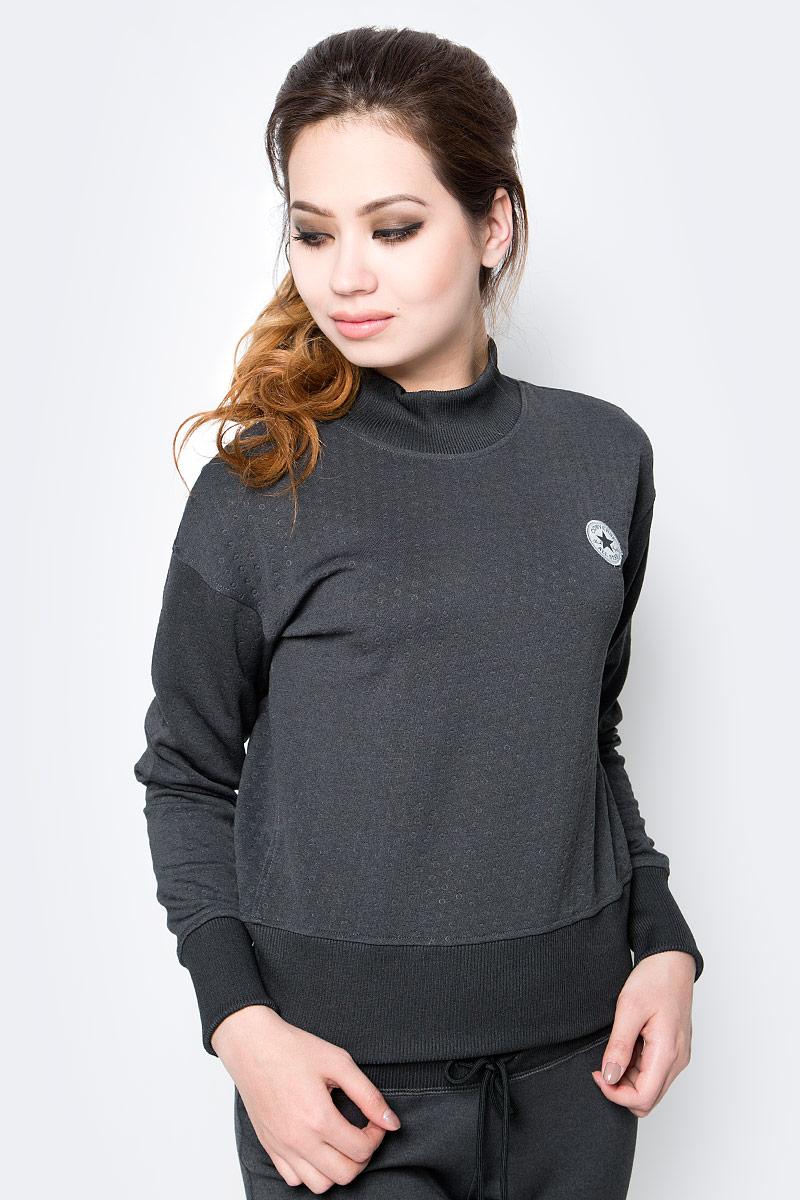 Толстовка женская Converse Top, цвет: серый. 10003545001. Размер XS (42)