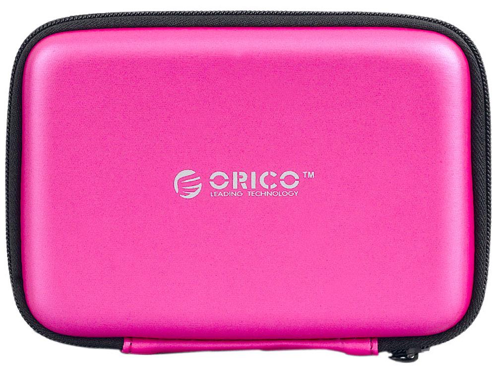 Orico PHB-25, Pink чехол для жесткого дискаORICO PHB-25-PKOrico PHB-25 подойдёт для хранения внешних жёстких дисков и аксессуаров. В чехле также хватит места для кабеля USB, флешек и карт памяти. Изготовлен из специального EVA-материала, который защищает содержимое чехла от водяных брызг, пыли и статического электричества, которое может повредить электронику. При этом материал чехла можно легко очистить от грязи.Благодаря качественной и удобной молнии, Orico PHB-25 без проблем выдержит много циклов открытия и закрытия и долго прослужит своему владельцу.