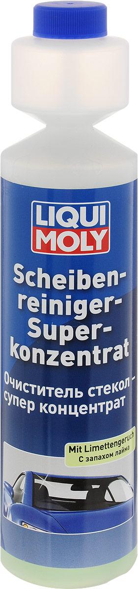 Очиститель стекол Liqui Moly Лайм, супер-концентрат, 250 мл2385Очиститель стекол Liqui Moly с ароматом лайма обеспечивает быструю и эффективную очистку стекол, тем самым улучшая обзорность и повышая безопасность движения. Удаляет следы от насекомых, пыли, воска, силиконов, дизельной копоти, а также загрязнения, которые способны создавать опасные пленки, слепящие и мешающие обзору, особенно в сумерках и при дожде. Смазывает уплотнения насоса стеклоомывателя. Пригоден к употреблению в веерных дюзах и системах очистки фар с пластиковыми светорассеивателями. Не содержит фосфатов, биологически разлагаем. Разводится с водой 1:100. Состав: вода, краситель, 15-30% анионные ПАВ, 2-бром-2-нитропропан-1,3-диол, метилизотиазолинон, бензизотиазолинон, метилхлороизотиазолинон/метилизотиазолинон, ароматизаторы. Товар сертифицирован.Уважаемые клиенты! Обращаем ваше внимание на возможные изменения в дизайне упаковки. Качественные характеристики товара остаются неизменными. Поставка осуществляется в зависимости от наличия на складе.