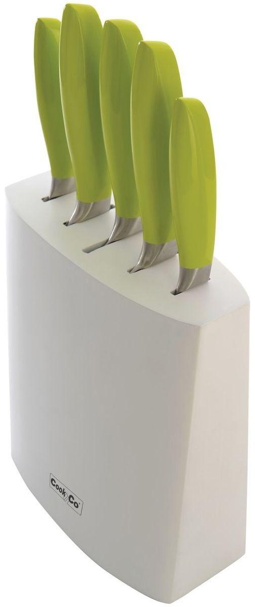 Набор ножей BergHOFF Cook&Co, цвет: зеленый, 6 предметов нож универсальный 12 5 см moulinvilla granate utility kgu 012