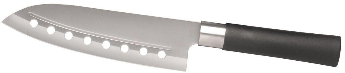 Нож сантоку BergHOFF Cook&Co, длина лезвия 18 см2801437Японский нож сантоку Berghoff Cook&Co – это универсальный кухонный нож, подходящий практически для любых целей, прекрасно сбалансированный. Лезвие выполнено из нержавеющей стали, рукоятка из пластика.Мойка в посудомоечной машине: не рекомендуется.Длинна лезвия: 18 см.