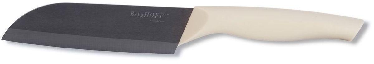 Нож сантоку BergHOFF Eclipse, керамический, длина лезвия 14 см3700100Нож сантоку BergHOFF Eclipse изготовлен из высококачественной керамики. Нож имеет острое лезвие, не требующее дополнительной заточки. Очень удобная и эргономичная ручка выполнена из полипропилена. Рукоятка не скользит в руках и делает резку удобной и безопасной. Нож сантоку идеально шинкует, нарезает и измельчает продукты. Такой нож займет достойное место среди аксессуаров на вашей кухне.