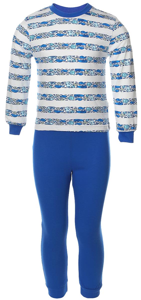 Пижама для мальчика Веселый малыш, цвет: синий. 9317-K (1). Размер 116 вилт малыш синий стд0308