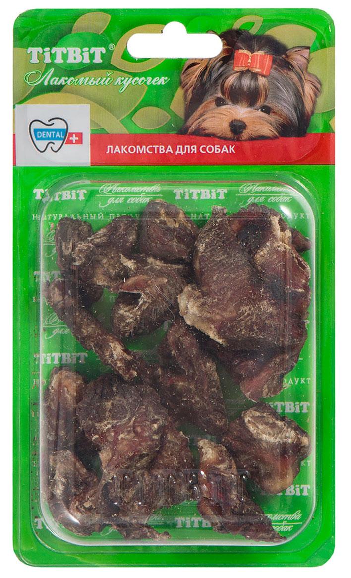 Лакомство для собак Titbit, сушеное мясо, 10-12 кусочков4847Упаковка содержит 10-12 кусочков высушенного говяжьего мяса. Источник аминокислот, витаминов и микроэлементов необходимых Вашей собаке. Дополнительное или основное блюдо в рационе собак питающихся натуральными продуктами.Состав: Высушенное мясо говяжье.