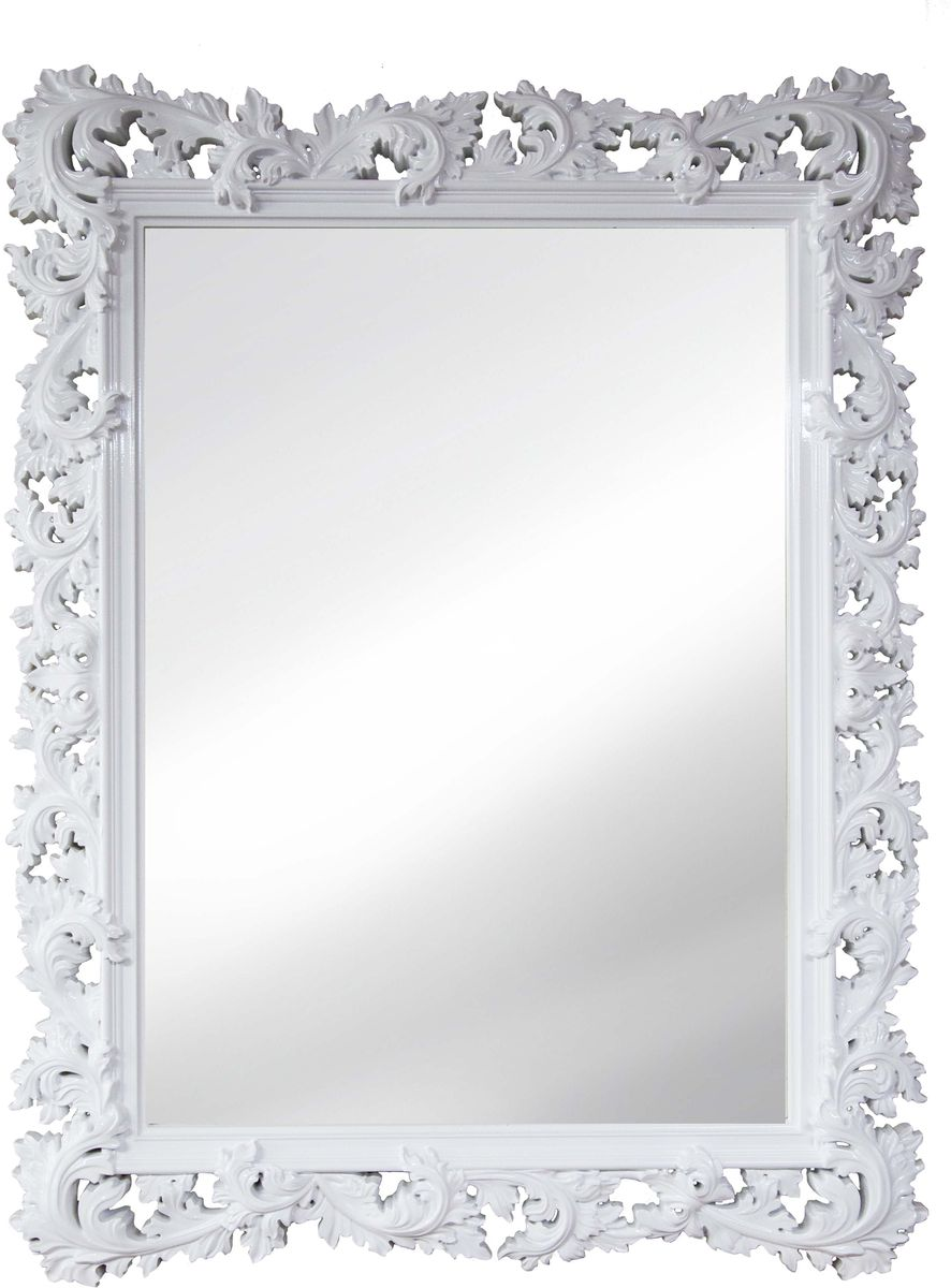 Зеркало VezzoLLi Алиана, цвет: белый, 88 х 115 см15-49С обратной стороны зеркало снабжено тремя металлическими подвесами для возможности разместить его и вертикально и горизонтально. Ширина обрамления 15 см.