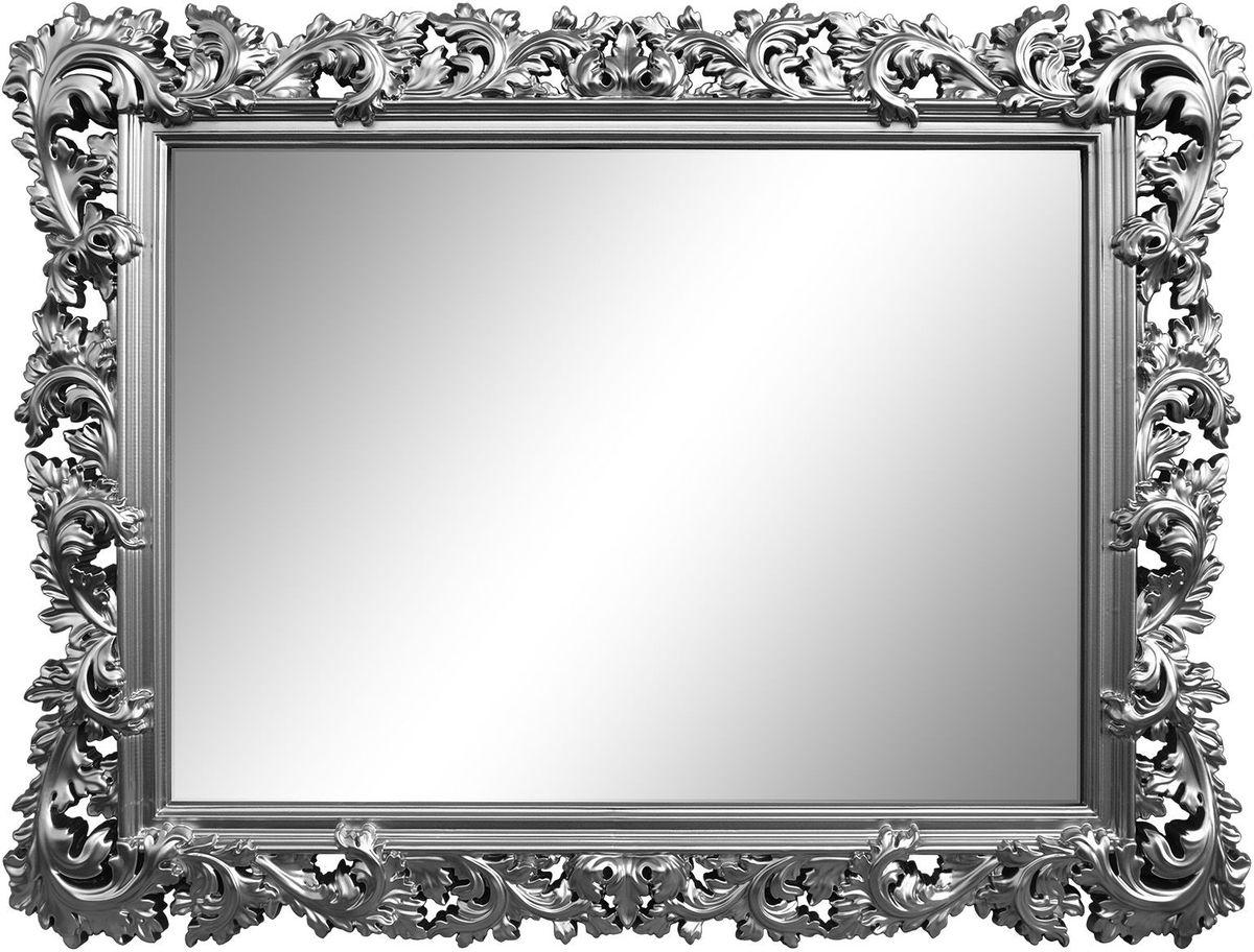 Зеркало VezzoLLi Алиана, цвет: серый металлик, 88 х 115 см15-74С обратной стороны зеркало снабжено тремя металлическими подвесами для возможности разместить его и вертикально и горизонтально. Ширина обрамления 15 см.