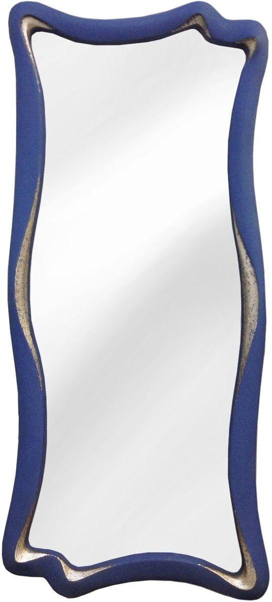 Зеркало VezzoLLi Марэ, цвет: синий, 53 х 120 см2-23Рама изделия окрашена в цвет, который визуально и на ощупь напоминает замшу. Подвесы в комплекте.