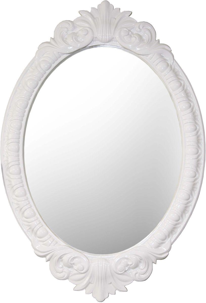 Зеркало VezzoLLi Венеция, цвет: белый, 72 х 104 см4-49С обратной стороны зеркало снабжено двумя металлическими подвесами. Видимый размер зеркального полотна 72х55 см.