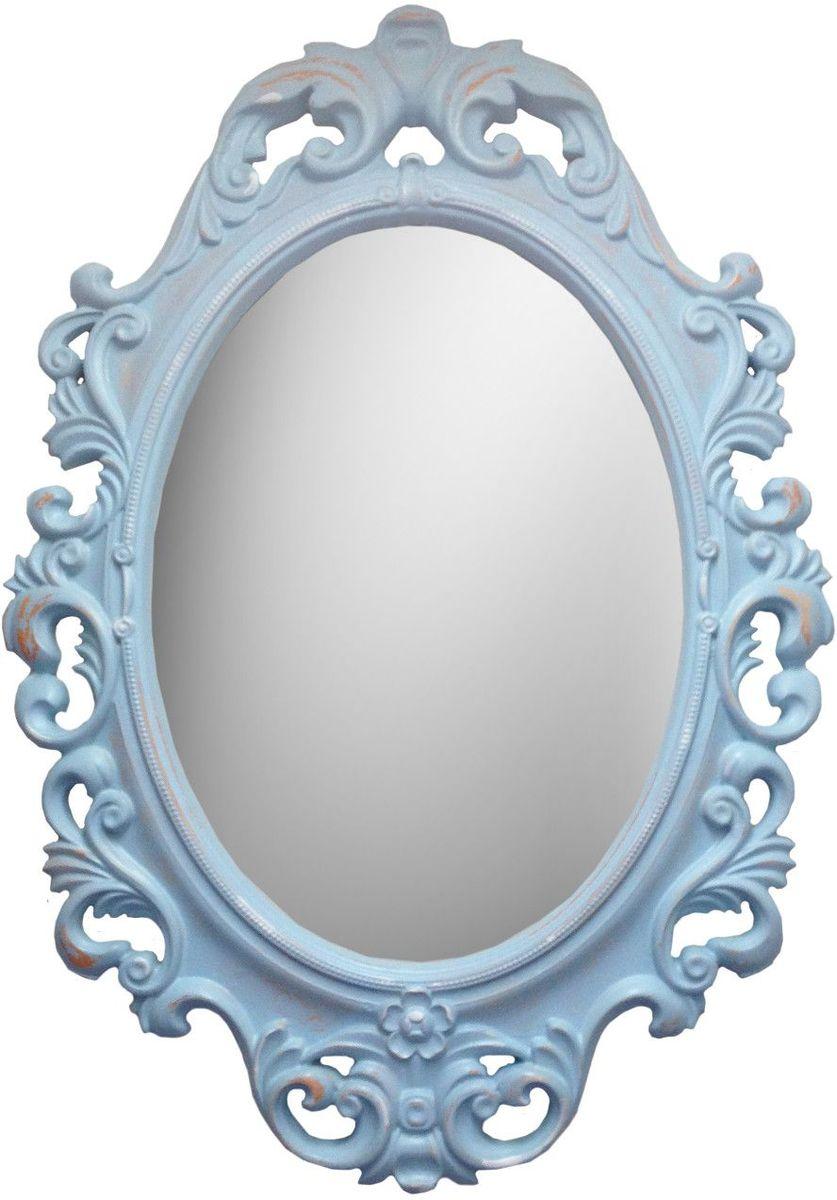 Зеркало VezzoLLi Винтаж, цвет: голубой, 67 х 96 см6-10Рама зеркала выполнена в стиле шебби шик ( винтаж, с потертостями). Ручная работа. С обратной стороны зеркало снабжено двумя металлическими подвесами. Видимый размер зеркального полотна 60х43,5 см.