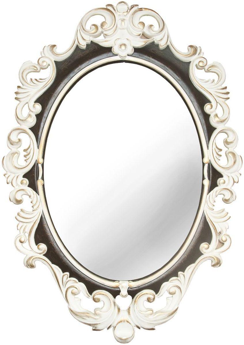 Зеркало VezzoLLi Винтаж, цвет: слоновая кость, черный, 67 х 96 см6-26Рама зеркала выполнена в стиле шебби шик - винтаж с потертостями. Ручная работа. С обратной стороны зеркало снабжено двумя металлическими подвесами.Видимый размер зеркального полотна 60 х 43,5 см.