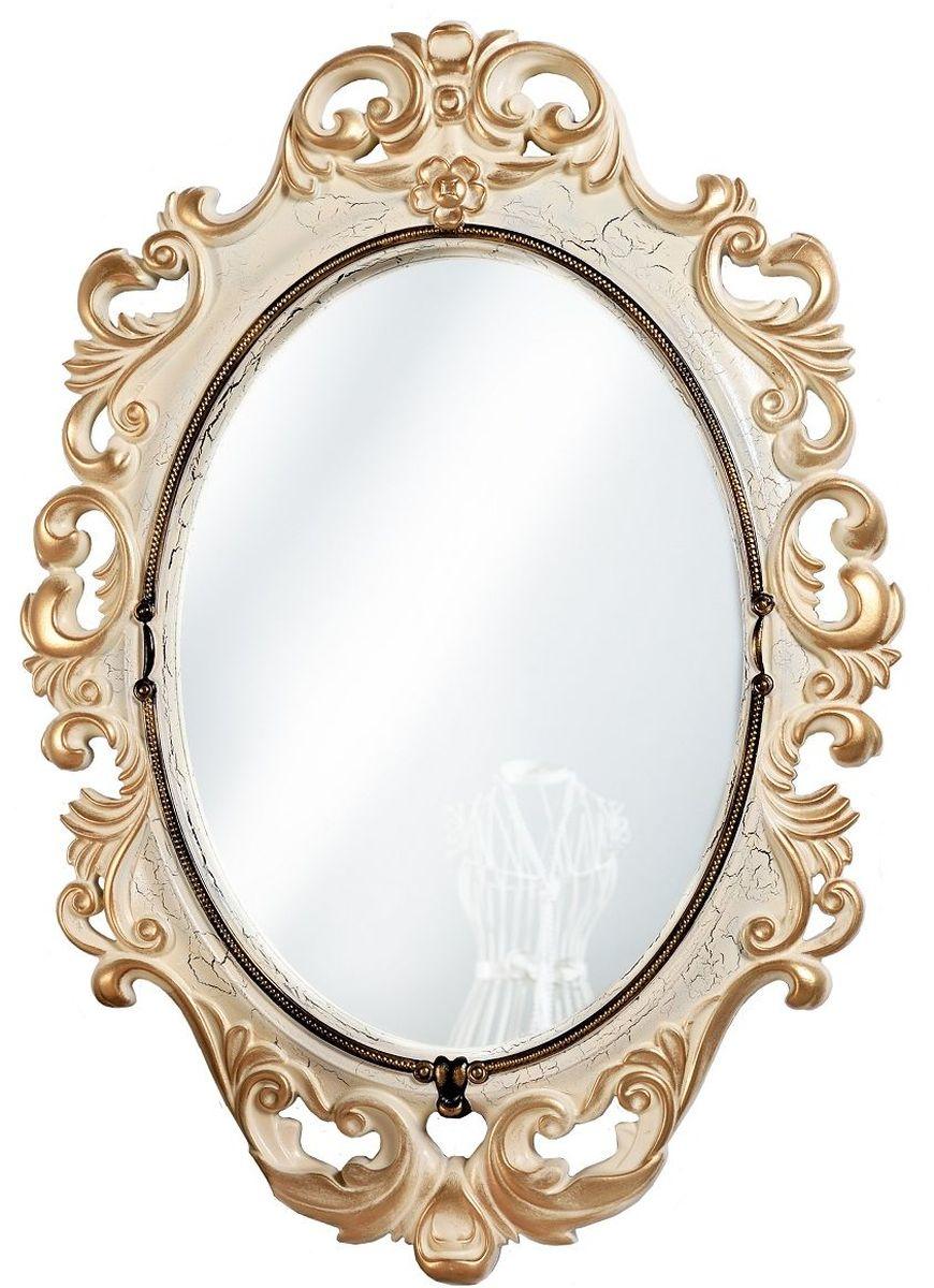 Зеркало VezzoLLi Винтаж, цвет: слоновая кость, 67 х 96 см6-28С обратной стороны зеркало снабжено двумя металлическими подвесами. Видимый размер зеркального полотна 60х43,5 см.