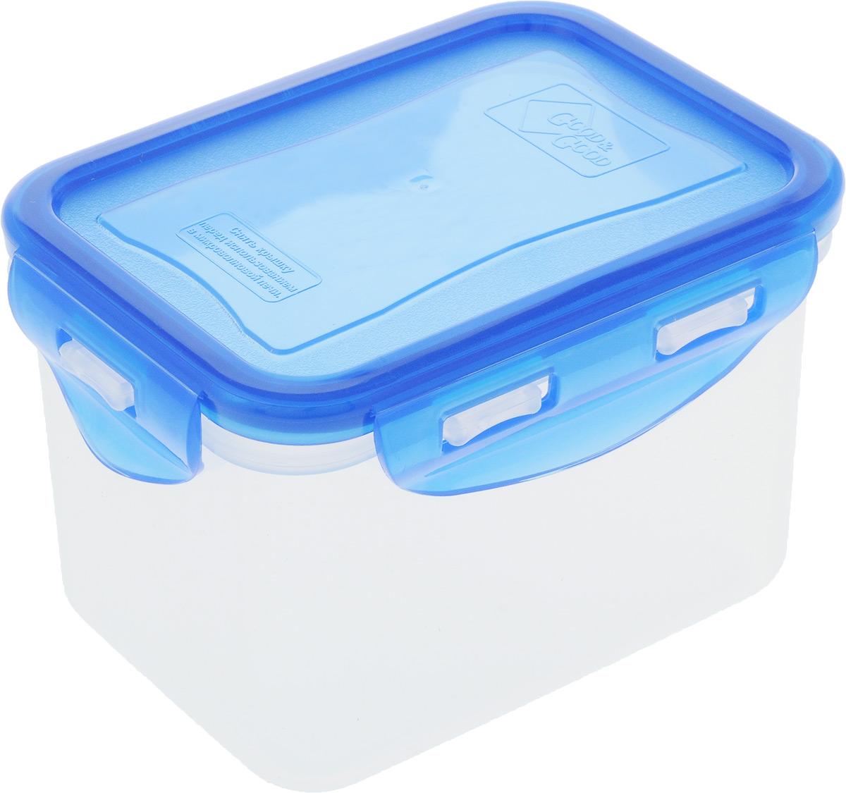 Контейнер пищевой Good&Good, цвет: прозрачный, синий, 630 мл. 02-2/COLORS lj41 04780a lj92 01454a good working tested