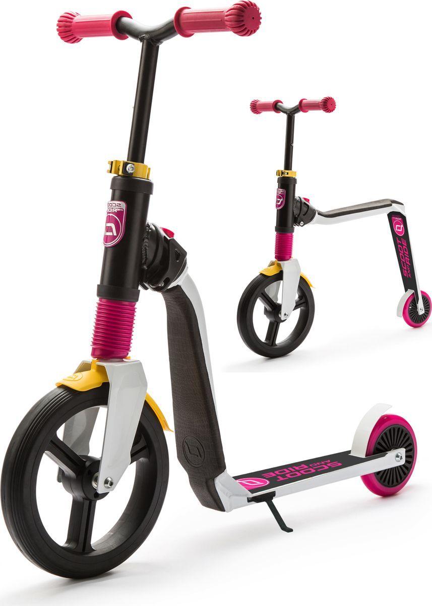 Scoot&Ride Беговел-самокат Highway Freak 2016 New цвет белый розовый желтый - Беговелы