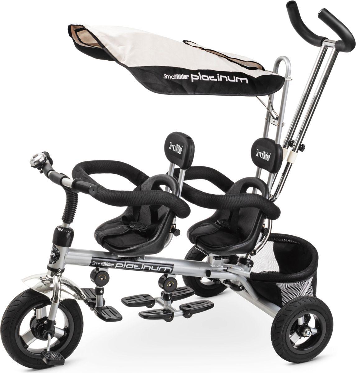 Small Rider Велосипед трехколесный для двоих детей Platinum ALT цвет серый - Велосипеды-каталки