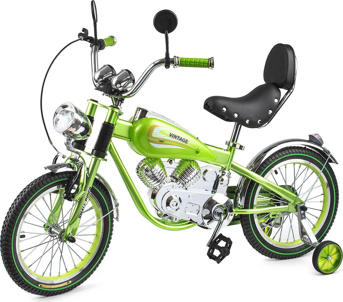 Small Rider Велосипед-мотоцикл детский Motobike Vintage цвет зеленый