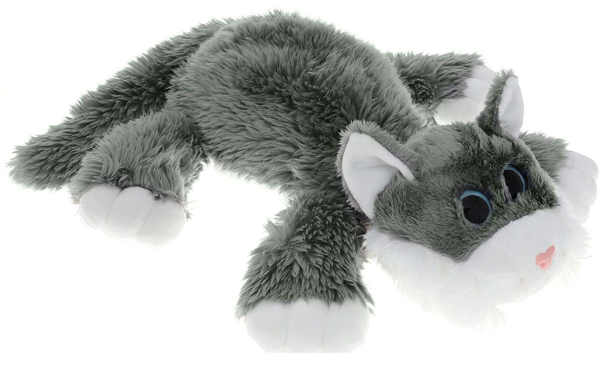 Мягкая озвученная игрушка Gulliver Котик Шалунишка, цвет: серый, 30 см
