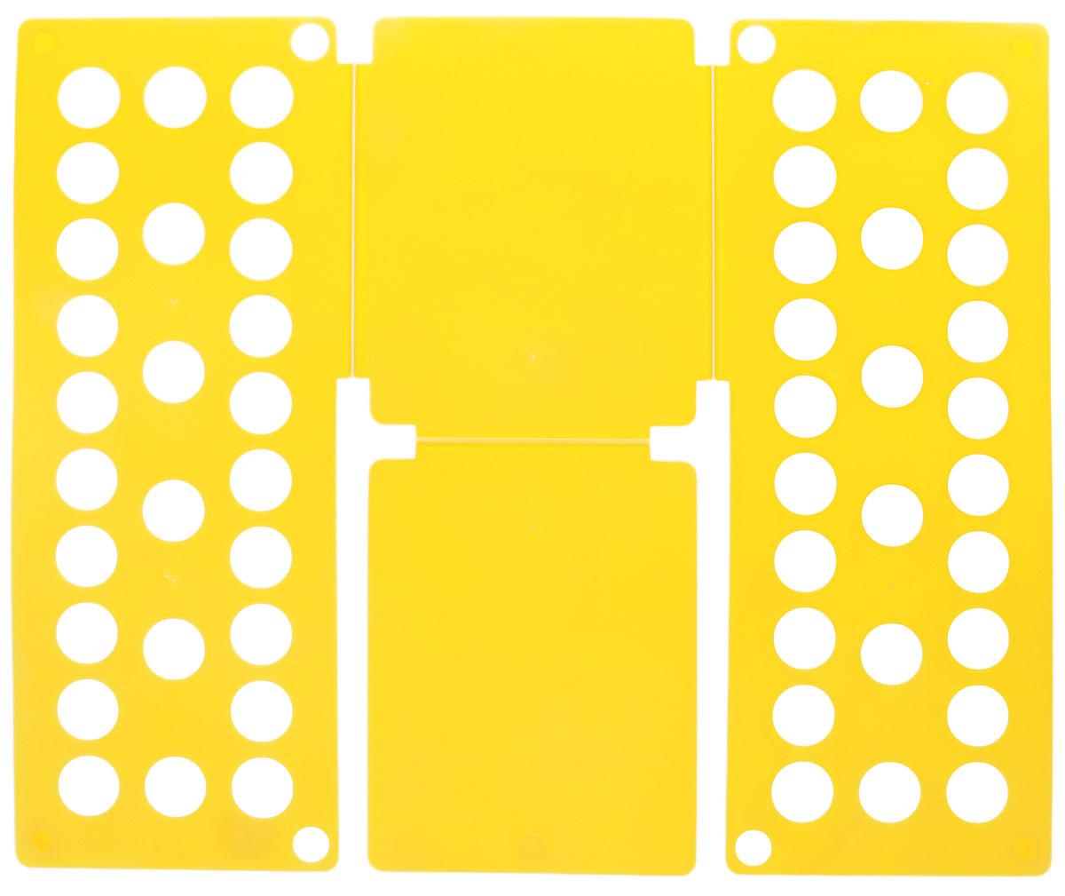 Приспособление для складывания детской одежды Sima-land, цвет: желтый1411846_желтыйПриспособление для складывания одежды Sima-land поможет навести порядок в вашем шкафу. С ним вы сможете быстро и аккуратно сложить вещи. Приспособление подходит для складывания полотенец, рубашек поло, вещей с короткими и длинными рукавами, футболок, штанов. Не подойдет для больших размеров одежды. Приспособление выполнено из качественного прочного пластика. Изделие компактно складывается и не занимает много места при хранении. Размер в сложенном виде: 40 х 16 см. Размер в разложенном виде: 48 х 40 см.