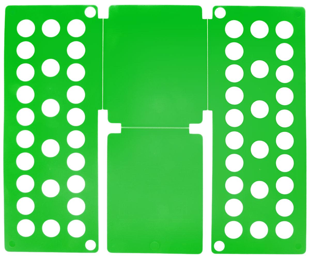 Приспособление для складывания детской одежды Sima-land, цвет: зеленый1411846_зеленыйПриспособление для складывания одежды Sima-land поможет навести порядок в вашем шкафу. С ним вы сможете быстро и аккуратно сложить вещи. Приспособление подходит для складывания полотенец, рубашек поло, вещей с короткими и длинными рукавами, футболок, штанов. Не подойдет для больших размеров одежды. Приспособление выполнено из качественного прочного пластика. Изделие компактно складывается и не занимает много места при хранении.Размер в сложенном виде: 40 х 16 см.Размер в разложенном виде: 48 х 40 см.
