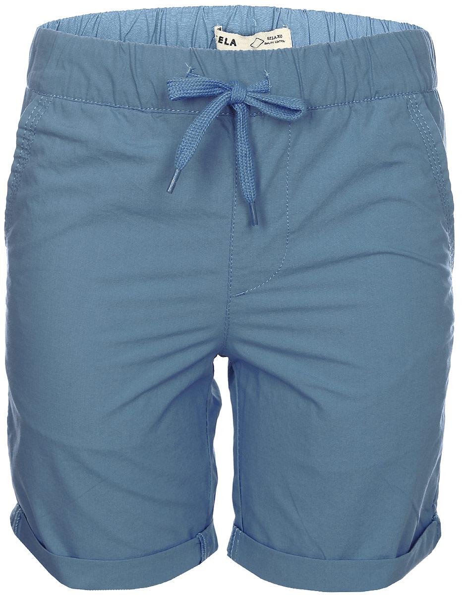Шорты для мальчика Sela, цвет: голубой. SH-815/320-7215. Размер 152 шорты женские sela цвет ярко голубой sh 115 824 7234 размер 46