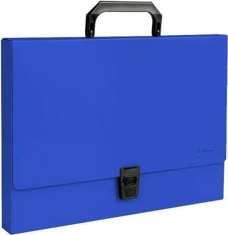 Berlingo Папка-портфель Standard цвет синийMP2310Папка-портфель Berlingo Standard - это удобный и практичный офисный инструмент, предназначенный для хранения и транспортировки большого количества рабочих бумаг и документов формата А4. Папка-портфель изготовлена из плотного пластика, оснащена удобной ручкой для переноски, закрывается на широкий клапан с пластиковым замком.Папка-портфель - это незаменимый атрибут для студента, школьника, офисного работника. Такая папка надежно сохранит ваши документы и сбережет их от повреждений, пыли и влаги.